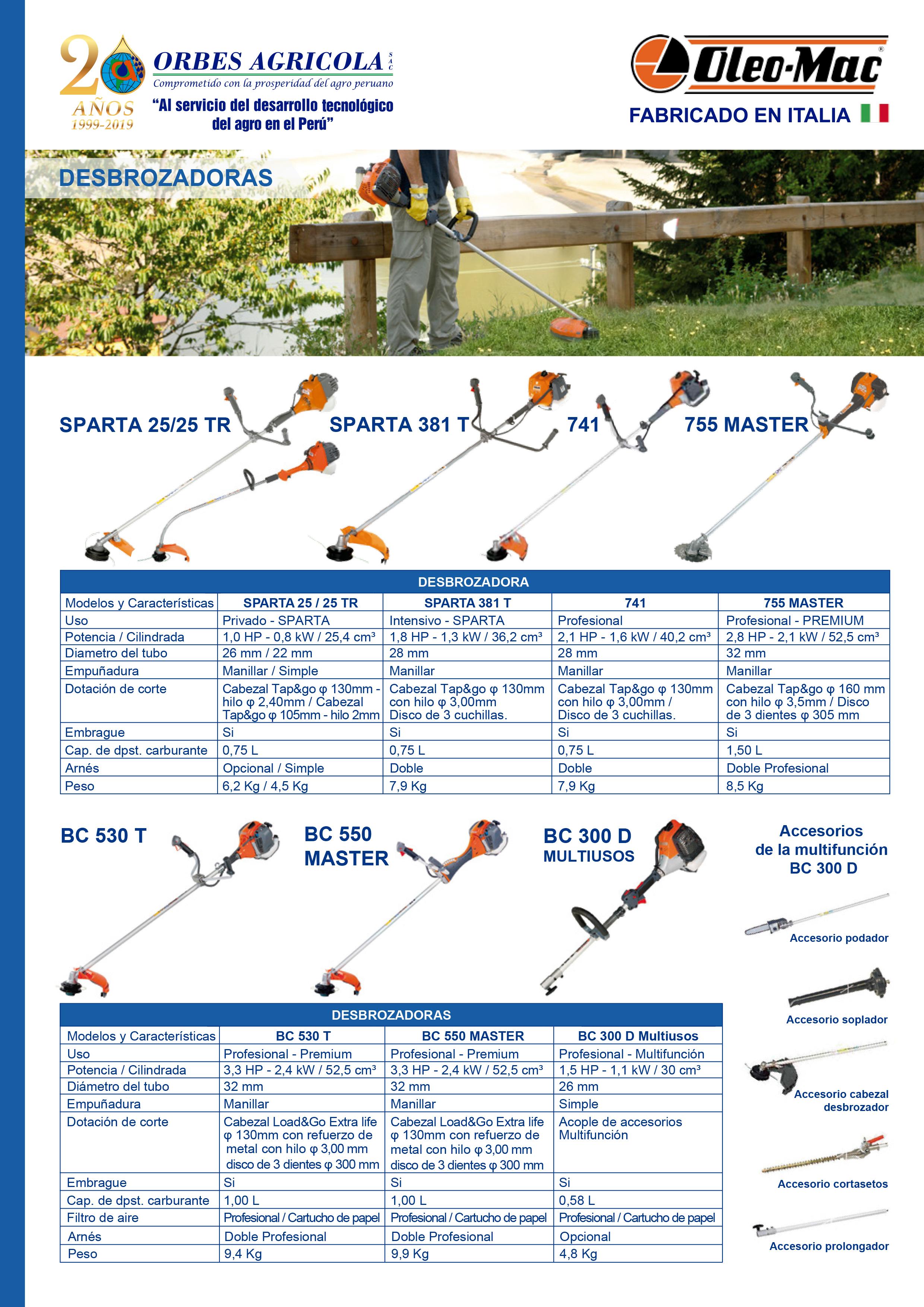 Catalogo Equipos de Jardinería Oleo Mac